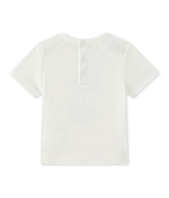 Baby-Jungen-Kurzarmshirt weiss Marshmallow