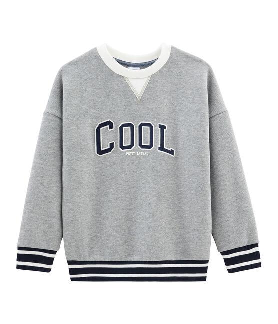 Sweatshirt für Jungen grau Subway