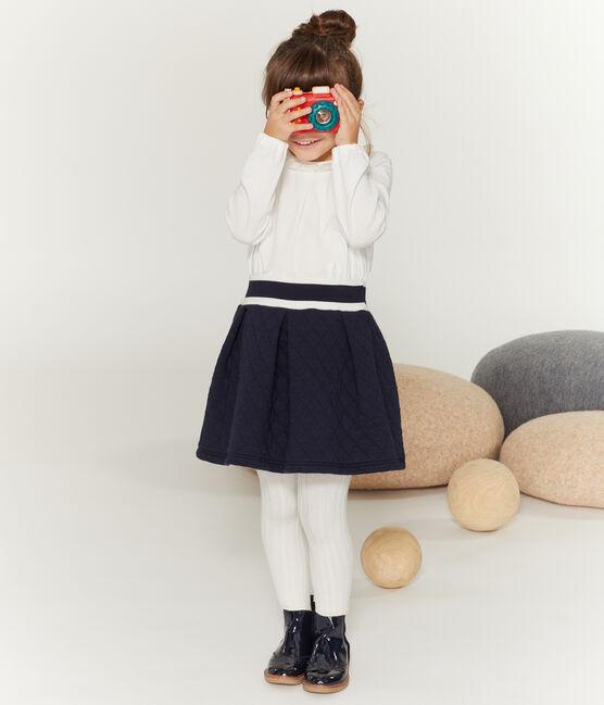 Langärmeliges Kinder-T-Shirt Mädchen weiss Marshmallow