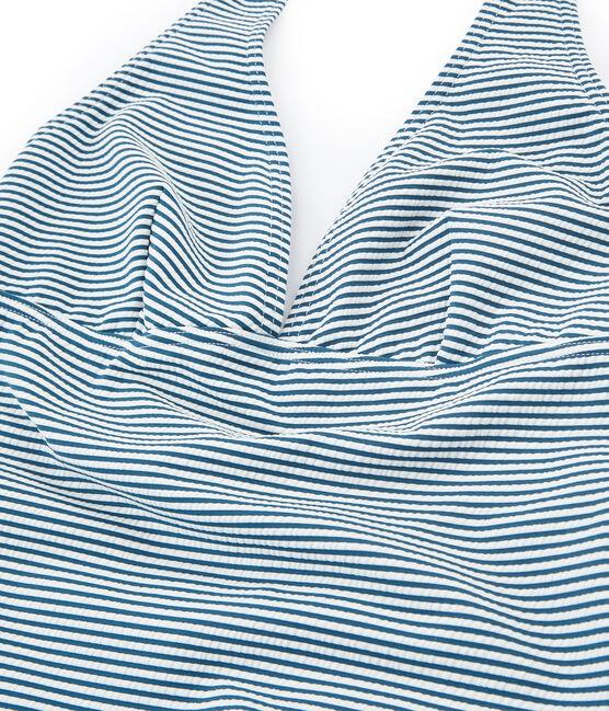 Badeanzug 1-teilig damen grün Pinede / weiss Marshmallow
