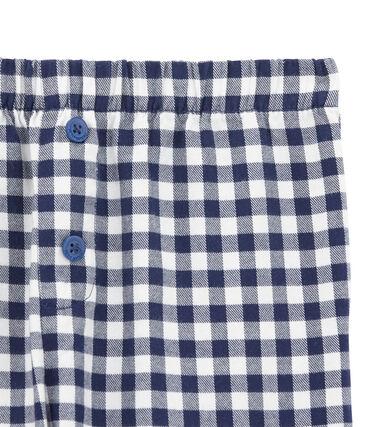 Pyjamahose für Jungen weiss Lait / blau Medieval