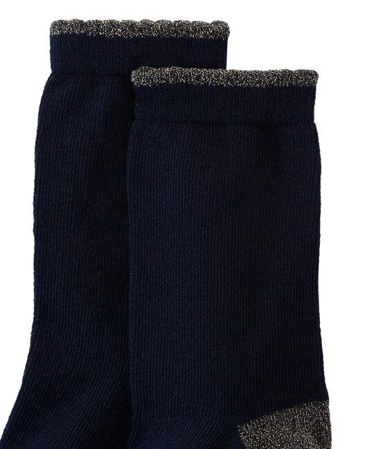 Mädchen Socken blau Smoking
