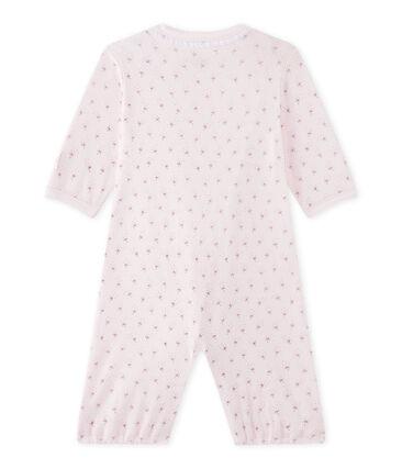 Baby-Mädchen-Overall mit 2-in-1-Effekt rosa Vienne / weiss Multico