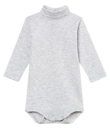 Unisex Baby Rollkragenbody mit Milleraies-Ringelstreifen