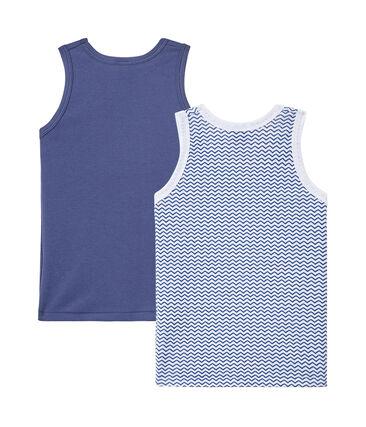 Jungen-Unterhemden im 2er-Set