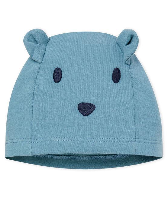 Entzückende Baby-Mütze Unisex aus Stretch-Molton blau Fontaine