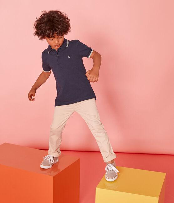 Kurzärmeliges Kinder-Polohemd Jungen blau Smoking