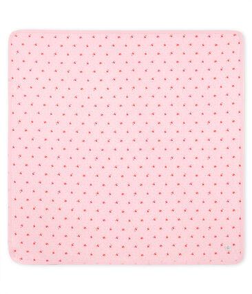 Gemusterte baby-laken unisex rosa Vienne / weiss Multico