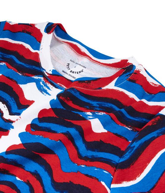 T-Shirt in einer Hyères-Neuauflage für Damen weiss Ecume / weiss Multico