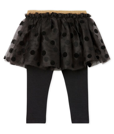 Baby-Leggingrock Mädchen grau Capecod