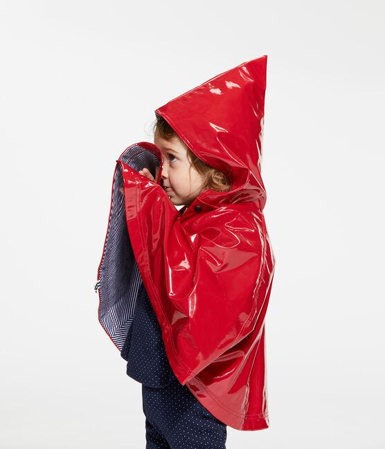 Lackiertes Baby-Regencape für Mädchen rot Terkuit