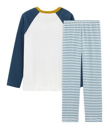Pyjama aus Baumwolle für kleine Jungen weiss Marshmallow / weiss Multico
