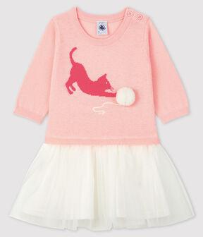 Langärmeliges Baby-Kleid für Mädchen MINOIS
