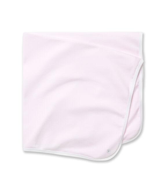 Ringel-gestreiftes Baby Betttuch rosa Vienne / weiss Ecume
