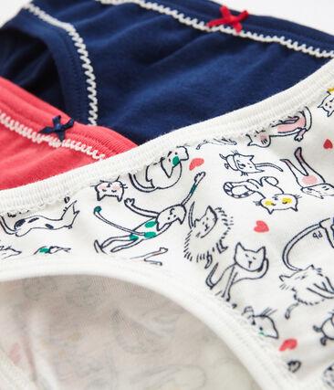 3er-Set Unterhosen für kleine Mädchen