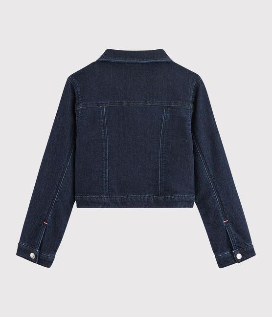 Kinder-Jeansjacke für Mädchen blau Denim Bleu Fonce