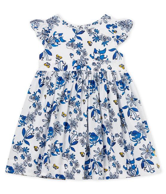 Kurzärmeliges baby-kleid mädchen weiss Marshmallow / weiss Multico