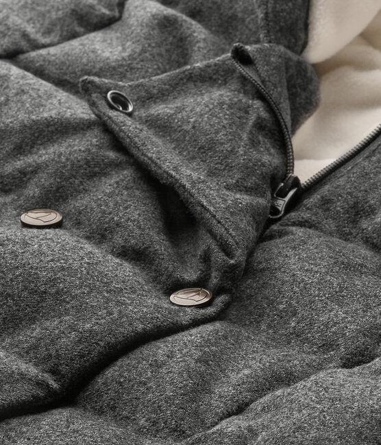 Mädchen-Winterjacke aus wasserabweisendem Flanell grau Subway Chine