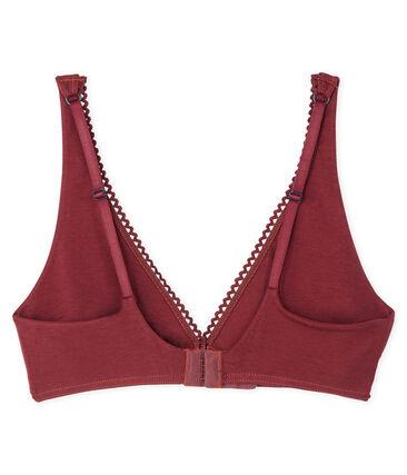 Triangel-BH für Damen rot Carmin