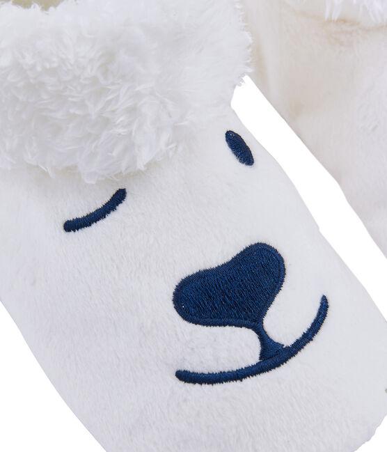 Unisex-Hausschuhe aus Fleece weiss Marshmallow