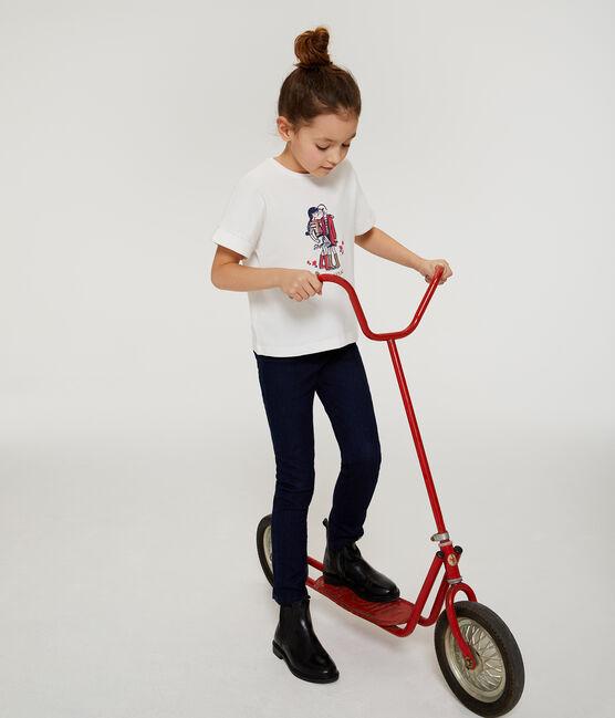 Kurzärmeliges Kinder-T-Shirt Mädchen weiss Marshmallow