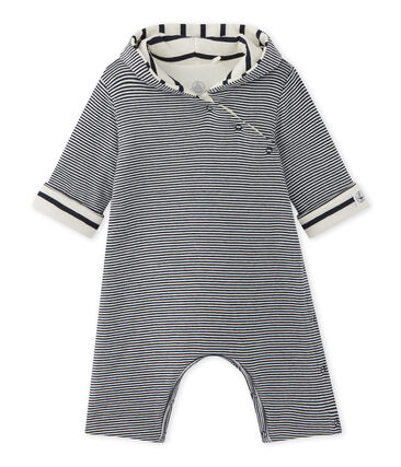 Baby-Overall mit Kapuze im Milleraies-Ringelmuster