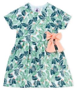 Kurzärmeliges baby-kleid mädchen