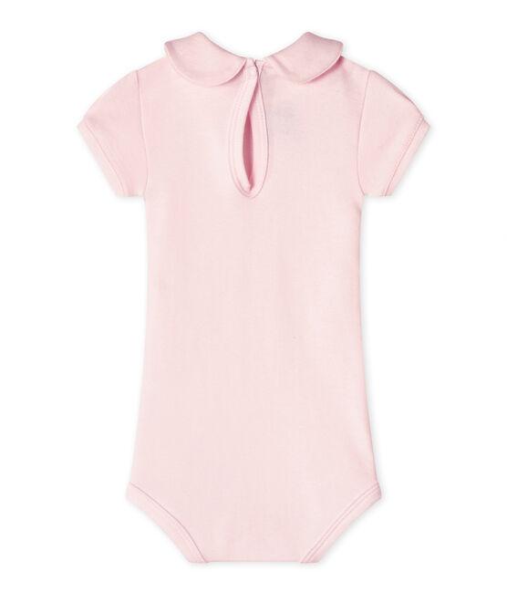 Baby-Mädchen-Body mit Kragen rosa Vienne