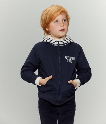 Wendbares Sweatshirt mit Reißverschluss für Jungen blau Smoking