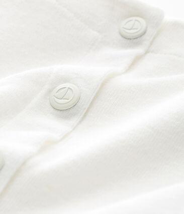 Baby-cardigan aus baumwolle/leinen mädchen weiss Marshmallow