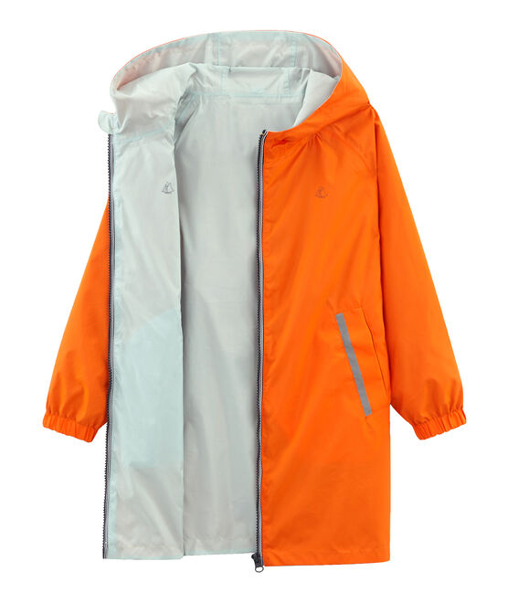 Winddichte Kinder-Wendejacke Unisex orange Carotte / blau Fontaine