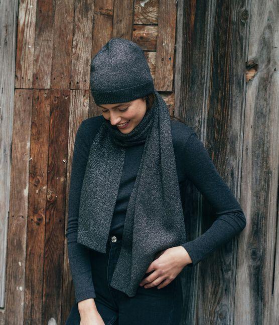 Glänzende Mütze für Damen schwarz City / grau Argent