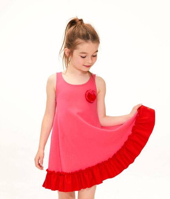 Kinder-Kleid für Mädchen rot Geisha