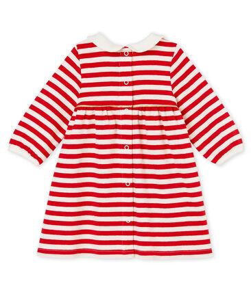 Gestreiftes Baby MädchenKleid mit Kragen