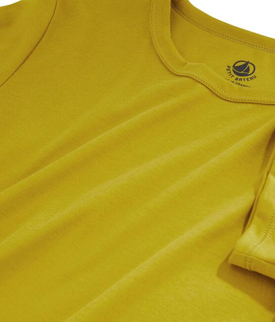 T-Shirt aus Sea-Island-Baumwolle für Damen gelb Bamboo