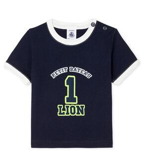 Kurzärmeliges Baby-T-Shirt für Jungen blau Smoking