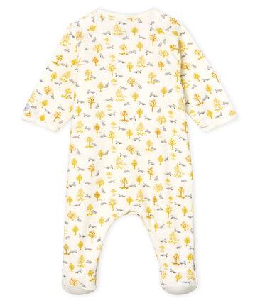 Baby-Strampler aus angerautem, extra warmem Bouclé-Frottier für Jungen weiss Marshmallow / weiss Multico