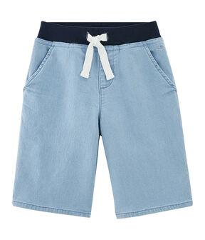 Kinder-Bermuda für Jungen blau Denim Bleu