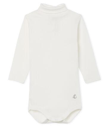 Langärmeliger Baby-Body mit Rollkragen, Unisex weiss Marshmallow