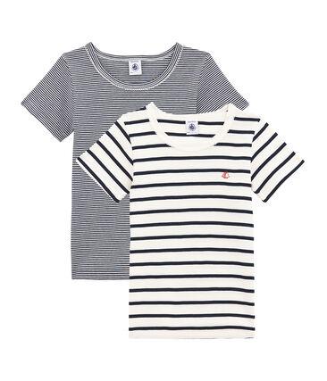 Duo aus kurzärmeligen T-Shirts für kleine Mädchen