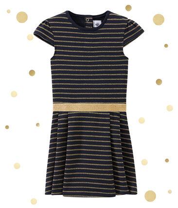 Mädchen Kleid aus gedoppeltem Jersey