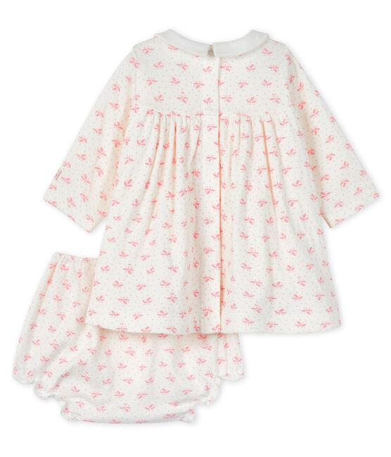 2-Teiliges baby-ensemble mädchen weiss Marshmallow / rosa Gretel