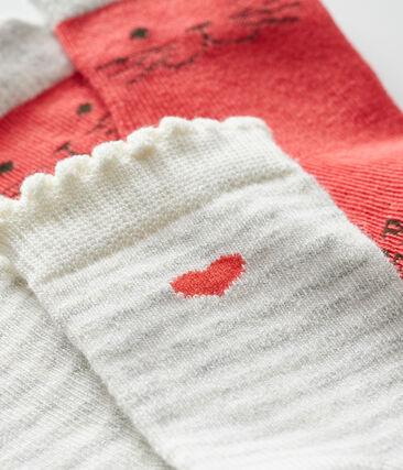 2er-Set Babystrümpfe für Mädchen rot Signal