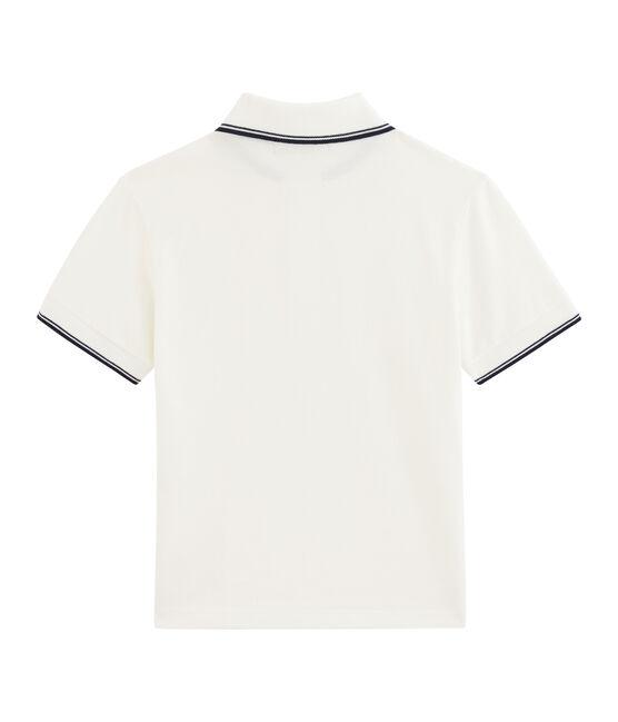 Kinder-Poloshirt für Jungen weiss Marshmallow