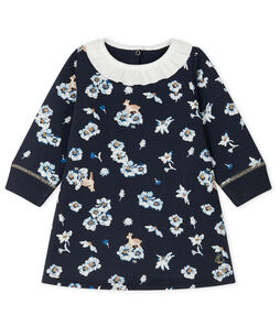 Langärmeliges bedrucktes Kleid für Baby Mädchen