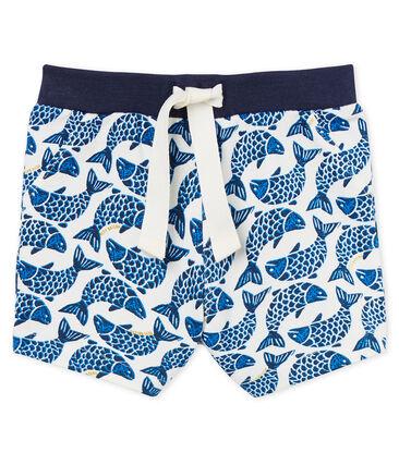 Gemusterte baby-shorts jungen weiss Marshmallow / weiss Multico