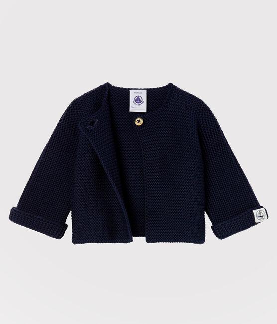 Baby-Cardigan aus Bio-Baumwollstrick blau Smoking