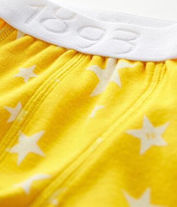 Boxershorts für kleine Jungen gelb Honey / weiss Marshmallow