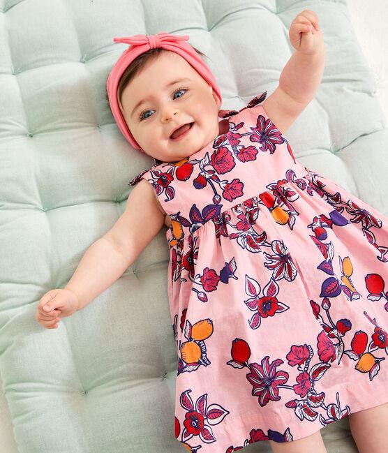 Gemustertes Bloomers-Höschen für Babys, Mädchen rosa Merveille / weiss Multico