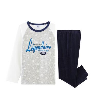 Samt-Pyjama für kleine Jungen